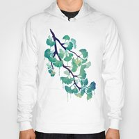 Hoodies featuring O Ginkgo (in Green) by littleclyde