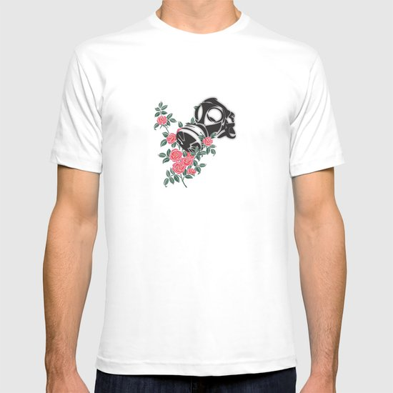 smell the roses - gas mask T-shirt