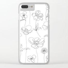 Botanical illustration drawing - Botanicals White Clear iPhone Case