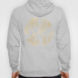 Gold palm leaves Hoody
