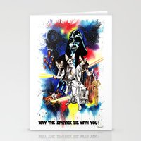 starwars Stationery Cards featuring StarWars Sphynx by Psyca