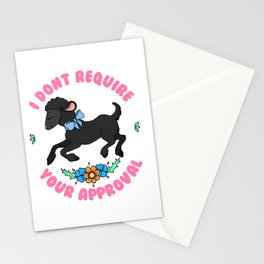 Black Sheep Don't Require Your Approval Stationery Cards