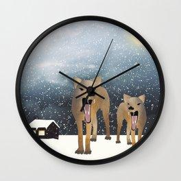 Coyotes Wall Clock