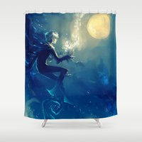 jack frost Shower Curtains featuring Jack Frost by AkiMao