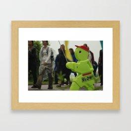 No hurry Framed Art Print