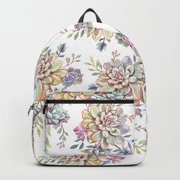 succulent watercolor 10 Backpack