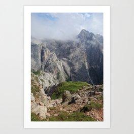 Dolomite peaks Art Print