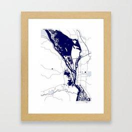 Mississippi River by La Crosse WI Framed Art Print