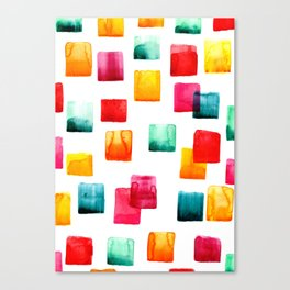 Full of watercolor squares Canvas Print