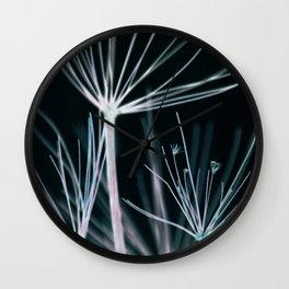 Botanical in Blue Wall Clock