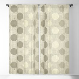 """Nude Burlap Texture and Polka Dots"" Blackout Curtain"
