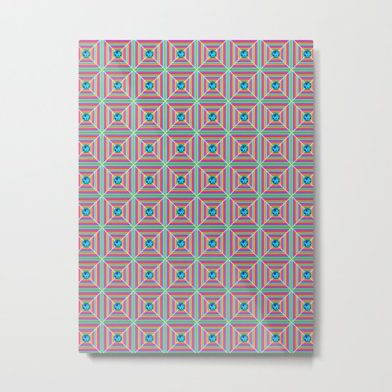 Connect the Dots Pattern Metal Print