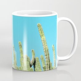 Desert Cactus Reaching for the Blue Sky Coffee Mug