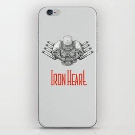 Iron Heart W iPhone Skin