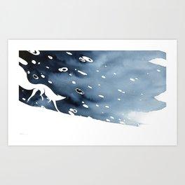 Cours comme la neige Art Print