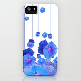 BABY BLUE MORNING GLORIES RAIN ABSTRACT ART iPhone Case
