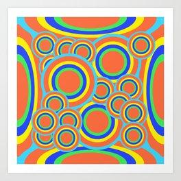 Mod - Colorful Circles Art Print
