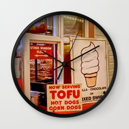 Fresh Kosher Tofu Corn Dog -Shellshott Wall Clock