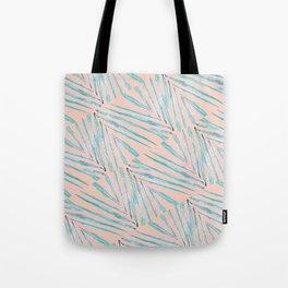 Palm Leaves Coral Tote Bag