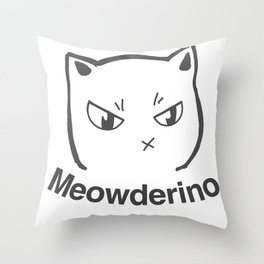 My Favorite Murder Meowderino Murderino Throw Pillow