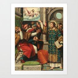 JUANES, JUAN DE Fuente la Higuera, Valencia, 1503 - Bocairente, Valencia, 1579 Miniatura autor Saint Art Print