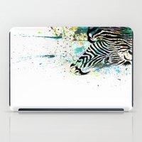 zebra iPad Cases featuring Zebra by Del Vecchio Art by Aureo Del Vecchio