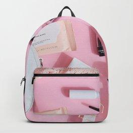 Pink Makeup Backpack