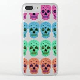 Dia De Los Muertos Pattern Clear iPhone Case