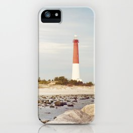 Barnegat Lighthouse Long Beach Island New Jersey Shore, Old Barney Light house LBI iPhone Case