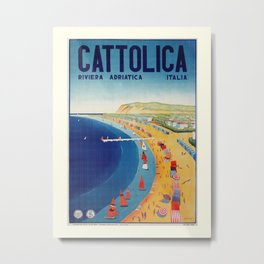 Cattolica 1920s Italy travel Metal Print