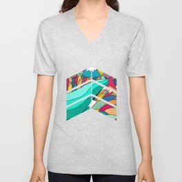 River in the mountains Unisex V-Neck