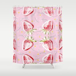 Strawberries Fiesta Pattern Shower Curtain