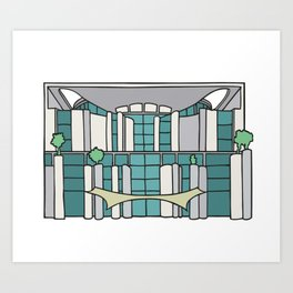 Chancellery in Berlin Art Print