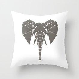 Grey Elephant Throw Pillow