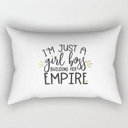 I'm Just A Girl Boss Rectangular Pillow