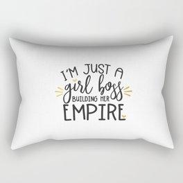 I'm Just A Girl Boss Rectangular Pillow