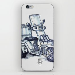 Honda delivery scooter japan iPhone Skin
