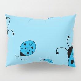 Ladybugs-Blue Pillow Sham