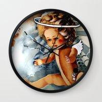 doll Wall Clocks featuring Doll by gapinska