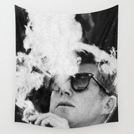 JFK Cigar and Sunglasses Cool President Photo Photo paper poster Wall Tapestry