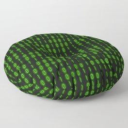 Binary Code Inside Floor Pillow