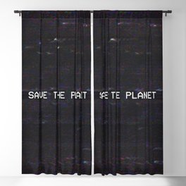 SAVE THE PLANET Blackout Curtain