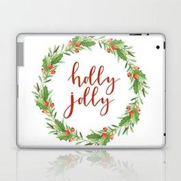 Christmas wreath-holly jolly Laptop & iPad Skin
