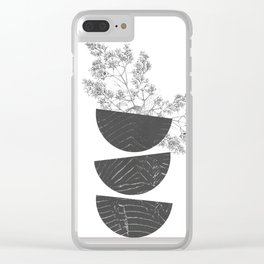 Vibration - Minimalism Mid-Century Modern Forms Clear iPhone Case