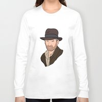 indiana jones Long Sleeve T-shirts featuring Indiana Jones by Rachel Barrett