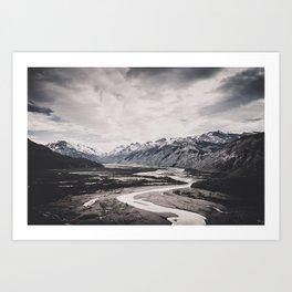 Andes and Patagonia Art Print