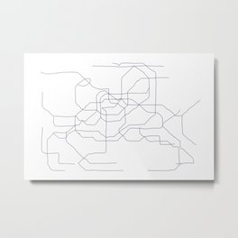 Seoul Subway Metal Print