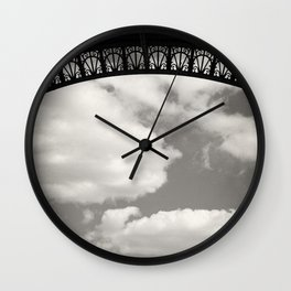 Black Lace of Eiffel Tower Wall Clock