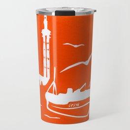 Home in Orange Travel Mug