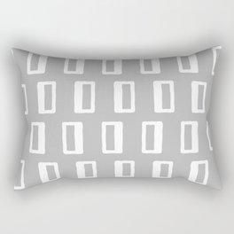 Chad Pattern Grey 22 Rectangular Pillow